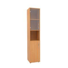 123 Шкаф1 узкий комбинированный с нишей со стеклом 360х360х1800