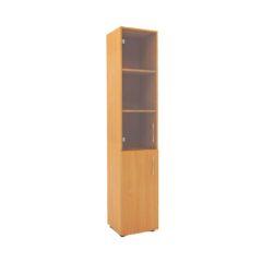 127 Шкаф узкий комбинированный с нишей со стеклом 360х360х1800